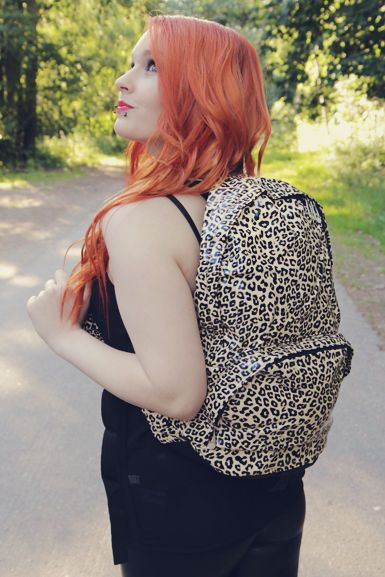Leopard backbag! so cool! <3
