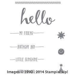 hello stamp set stampin up - Google zoeken