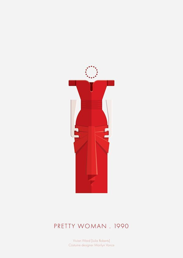 Cool Movie posters: Pretty Woman (1990) ~ Minimal Movie Poster by Frederico Birchal ~ Costume Series... Minimalist -Art Check more at http://kinoman.top/pin/13209/