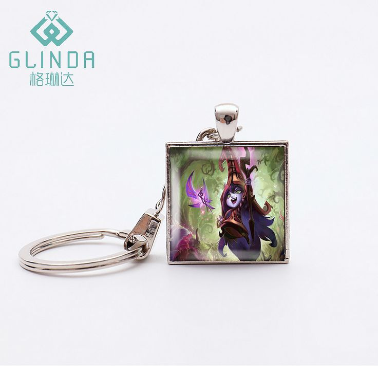 GLINDA Popular Online Games LOL ADC Varus Keychains Best friend Gifts Ahri Keychain Glass Dome Viktor Keyholder