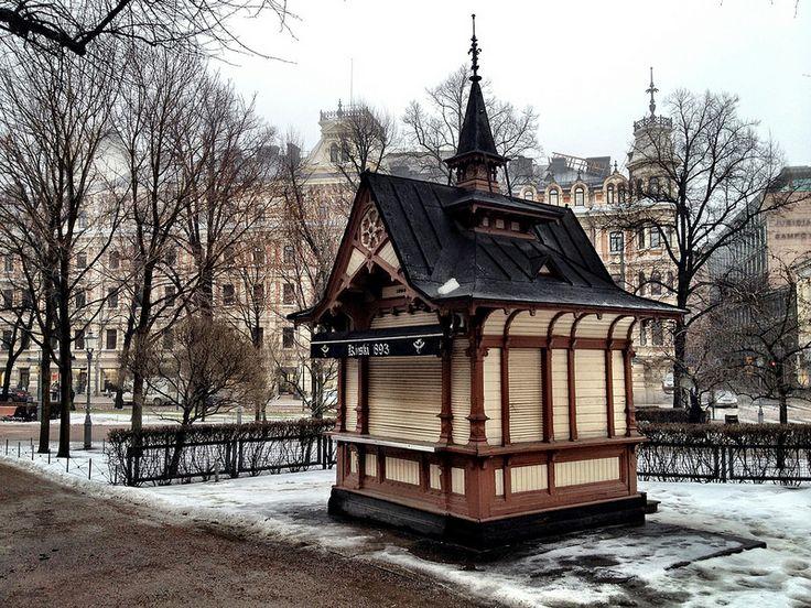 A kiosk in Helsinki