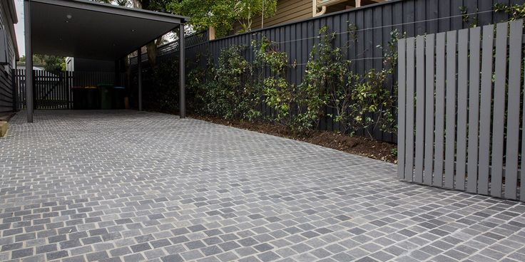 Ash Cobblestone pavers create an elegant, old-world look that combines attractive charm with extremely robust and flexible properties. #drivewaypavers #cobbles #stones