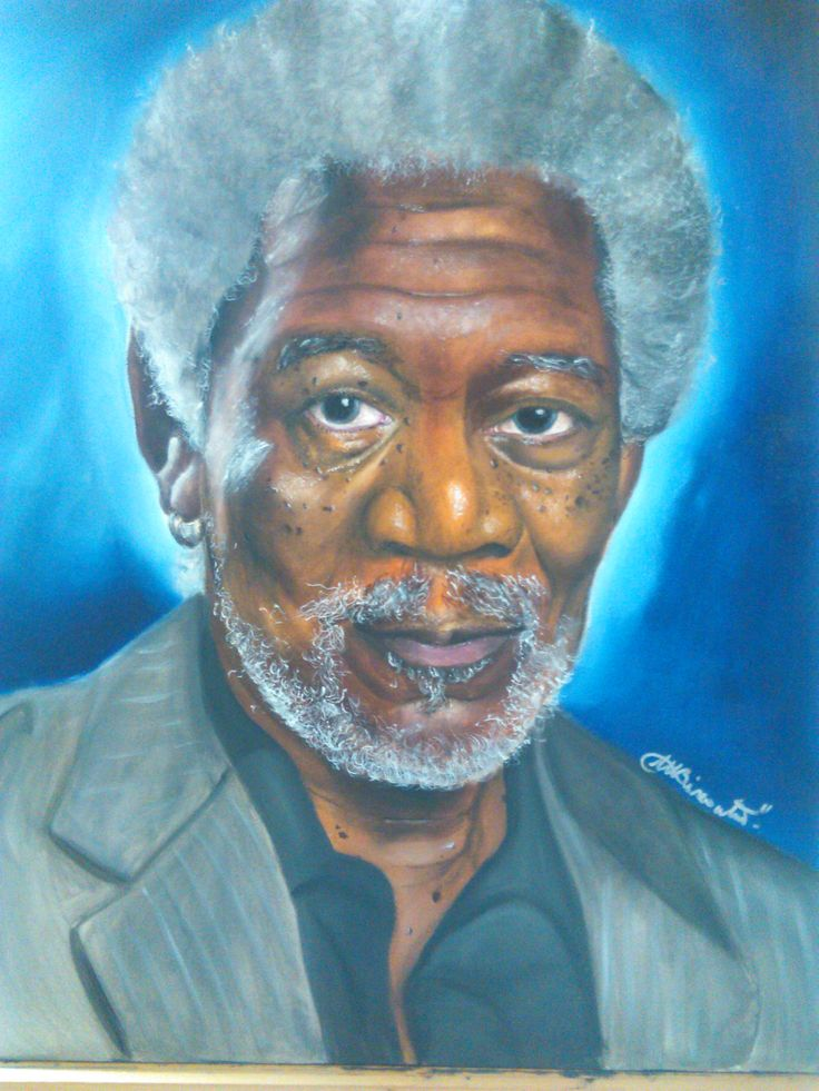 Morgan Freeman finished!! oil on canvas 50x60