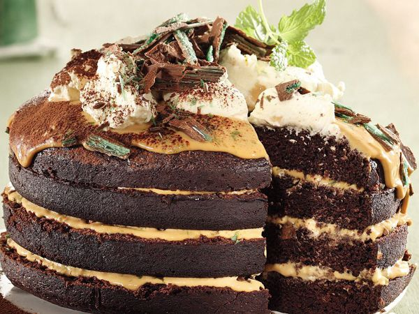 A delicious cake version of the classic Peppermint Crisp tart! Makes 1 stacked cake Preparation...