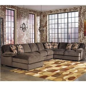 Truscotti - Cafe Contemporary 4-Piece Sectional with Armless Sofa & Left Chaise by Signature Design by Ashley - AHFA - Sofa Sectional Dealer Locator