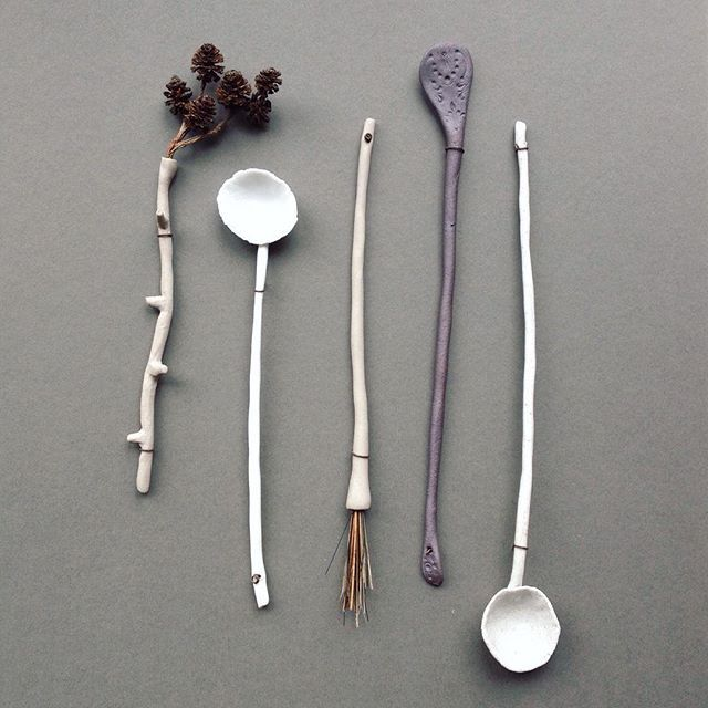 A framed composition of 'Woodland Utensils' in porcelain and mixed media. . I may have mentioned about our Open Studios at #Atelier51Brighton ? Maybe only once or twice! But if you didn't know, I have lots of my work on sale plus gorgeous things from makers all around the studios and shop. It's our final weekend coming up then it all gets packed up and I get some time off. This Saturday also coincides with @tuttonandyoung 's Made Brighton event at St Bartholomew's church just opposite. So…