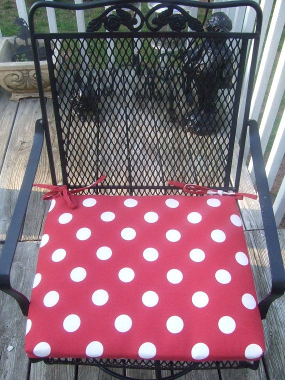 Lovely Indoor / Outdoor Red Polka Dot Fabric Patio By PillowsCushionsOhMy, $24.96