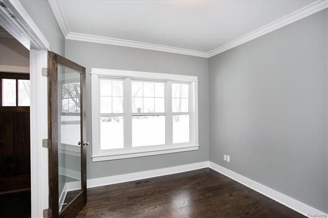 Grey Walls White Trim For Study Home Room Design House Rooms Grey Walls