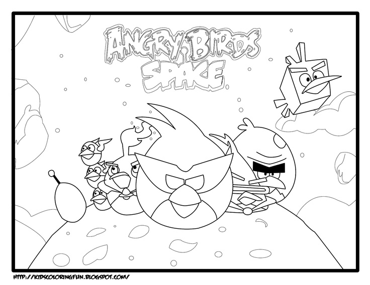 Angry Bird Space Coloring Page