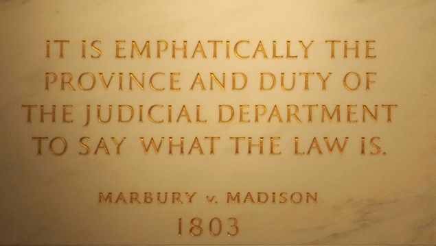 chief justice john marshall and the constitution as a supreme law In _____ the supreme court for the first time, in a decision authored by chief justice john marshall, held that the court could declare an act of congress unconstitutional marbury v madison in __________, the supreme court ruled that the court can review the decisions of the highest state courts if they involve a federal law or the federal.