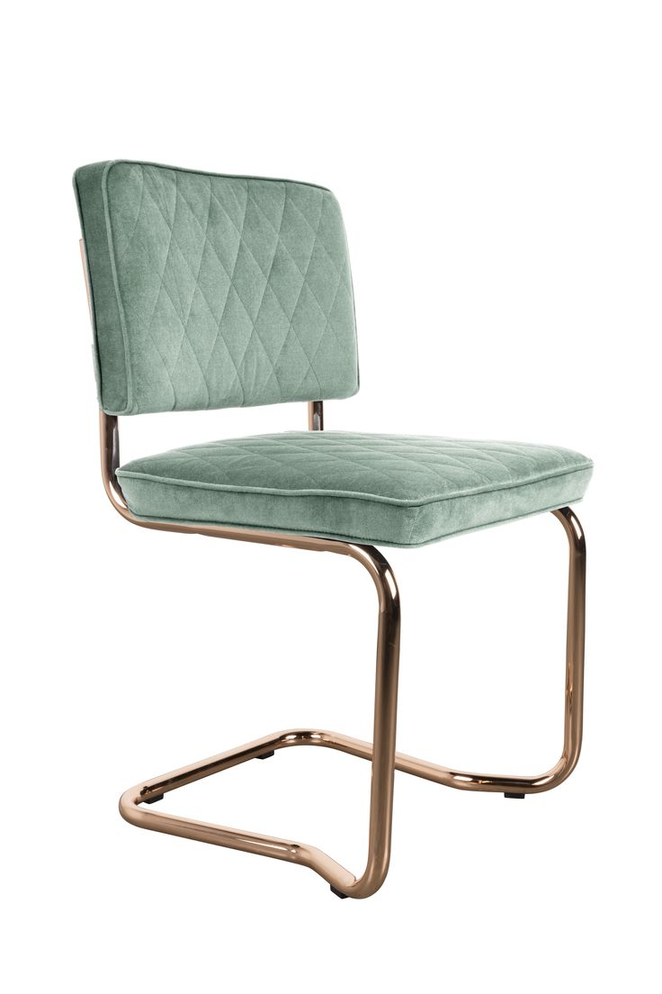 Diamond kink chair Minty green