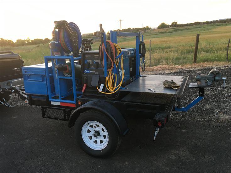 Homemade welding trailer