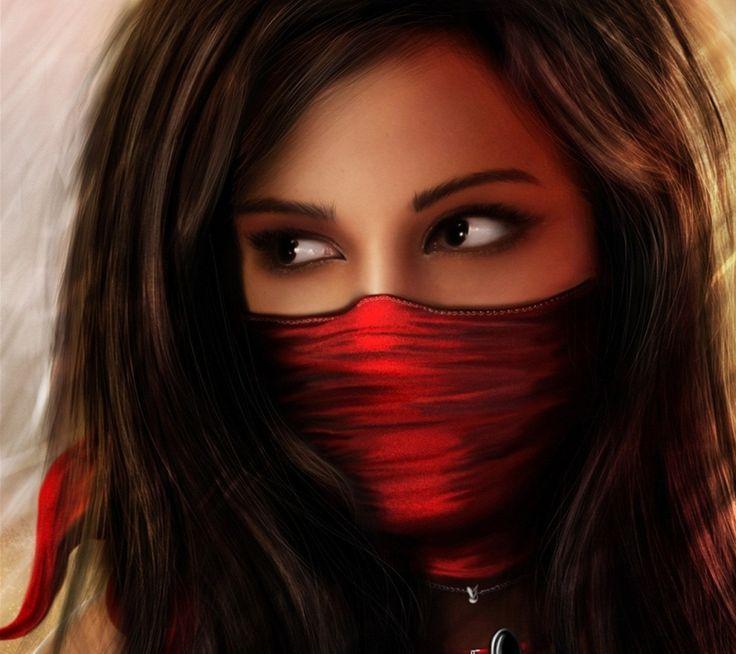 women fantasy art masks female warriors spears 1920x1080 ...