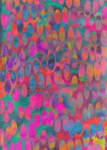 'Painterly Spots' pattern by Georgiana Paraschiv