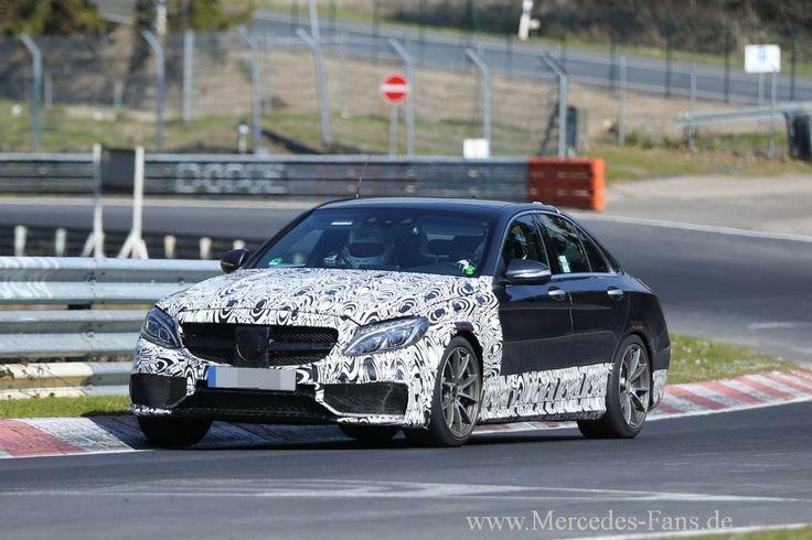 Erlkönig erwischt: Mercedes C63 AMG mit weniger Tarnung