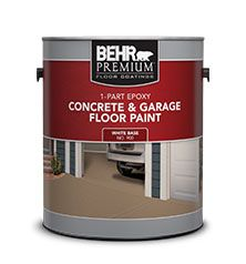 Learn about our 1-Part Epoxy Concrete & Garage Floor Paint. Find out about the benefits of painting with Behr's industry-leading Concrete Floor & Garage Coatings.
