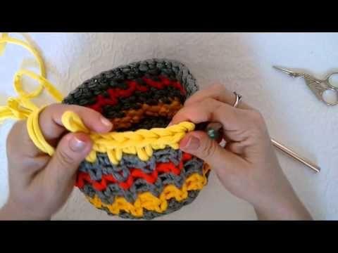 Tecendo Artes em Crochet: Ponto de Crochê Fofo para Cestos e Bolsas! Mais