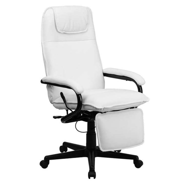 Offex High Back White Leather Executive Reclining Office Chair [OF-BT-70172-WH-GG]