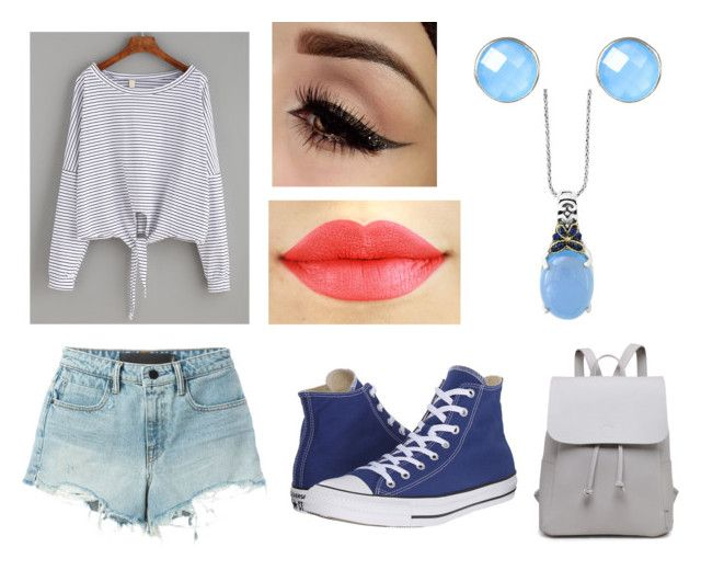 """Teen Wolf Amelia - I.E.D"" by jemjem21 on Polyvore featuring T By Alexander Wang, Converse and Effy Jewelry"
