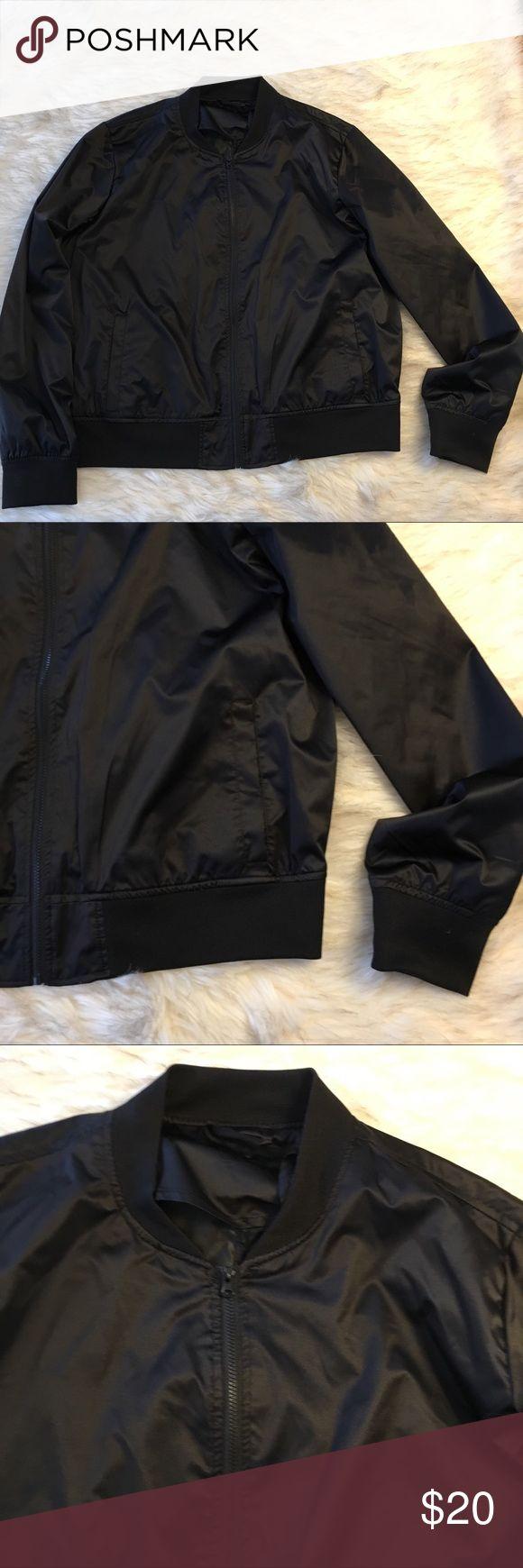 Lightweight Black Bomber Jacket NWOT Get the look! Great, lightweight Bomber Jacket new without tags- never worn. Jackets & Coats Utility Jackets