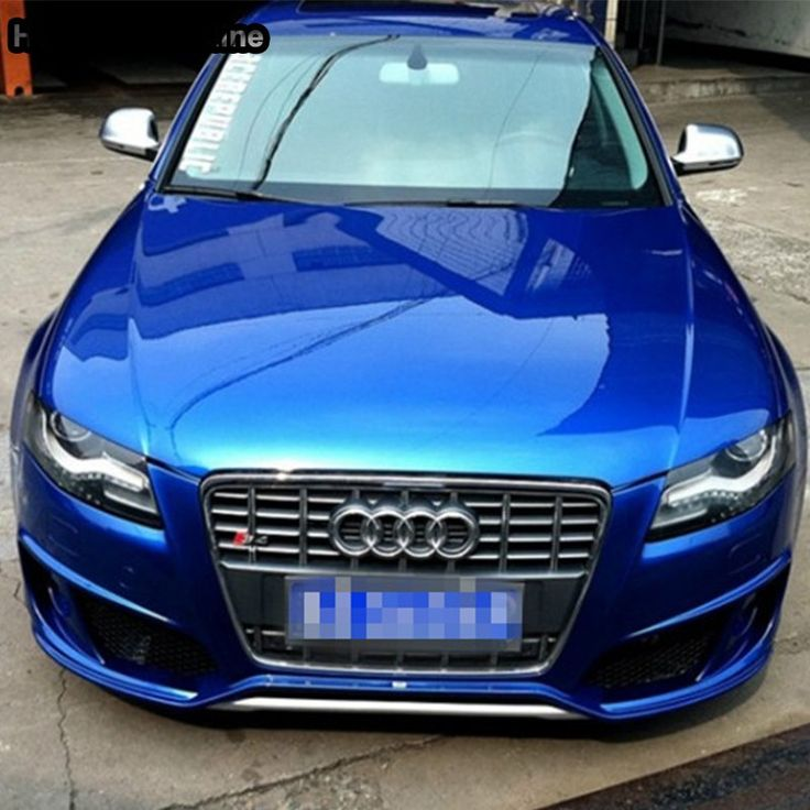A4 B8 Modified S4 Style Chrome Grey Front Bumper Engine