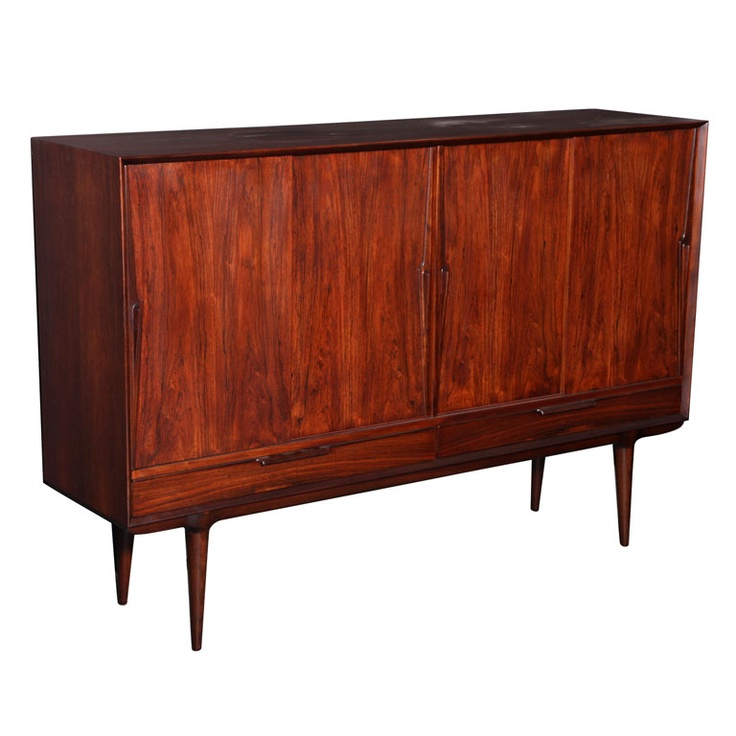 Rosewood Highboard by Omaan Jr.  Denmark, 1960's. @Nancy Garcia doesn't this look very similar to the sideboard Grandpa made? All of his furniture would be considered very high end right now!