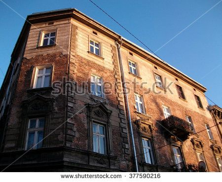 Building facade in Krakow - stock photo