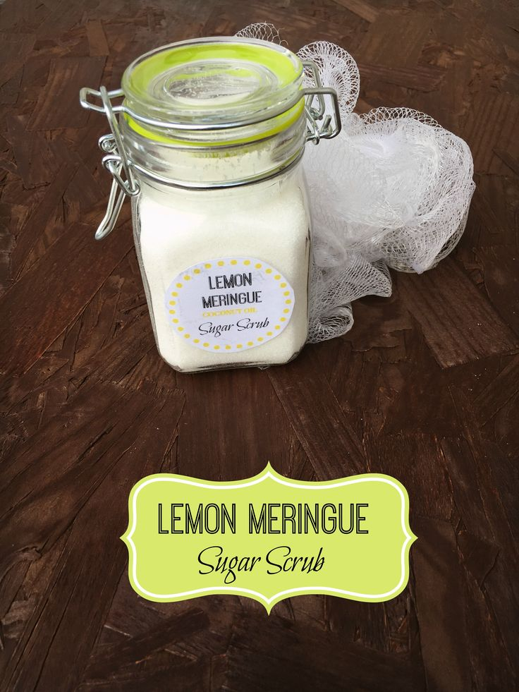 This Lemon Meringue Sugar coconut oil scrub smells just as delightful as it sounds!
