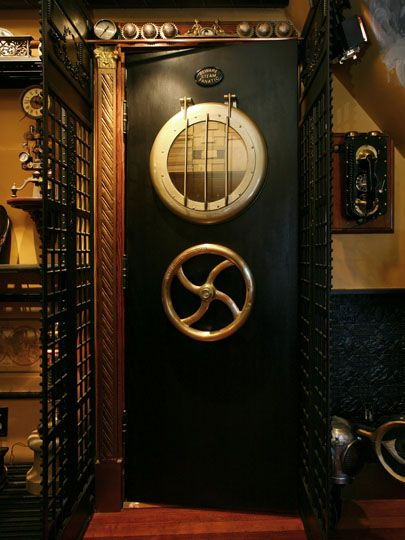 """Tour a steampunk house. Lots of other steampunk stuff at @sjgraves site """"Ms Victoria Jones""""."""
