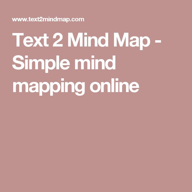 Text 2 Mind Map - Simple mind mapping online