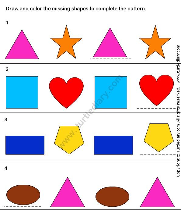pattern match worksheet30 math worksheets kindergarten worksheets logic and reasoning. Black Bedroom Furniture Sets. Home Design Ideas