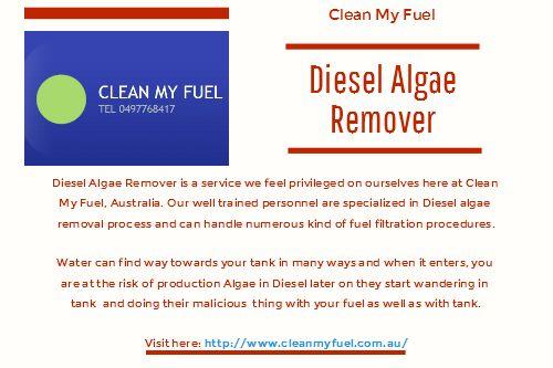 Diesel algae:  Diesel algae sometimes known as diesel bacteria could lead to serious malfunction in your units.