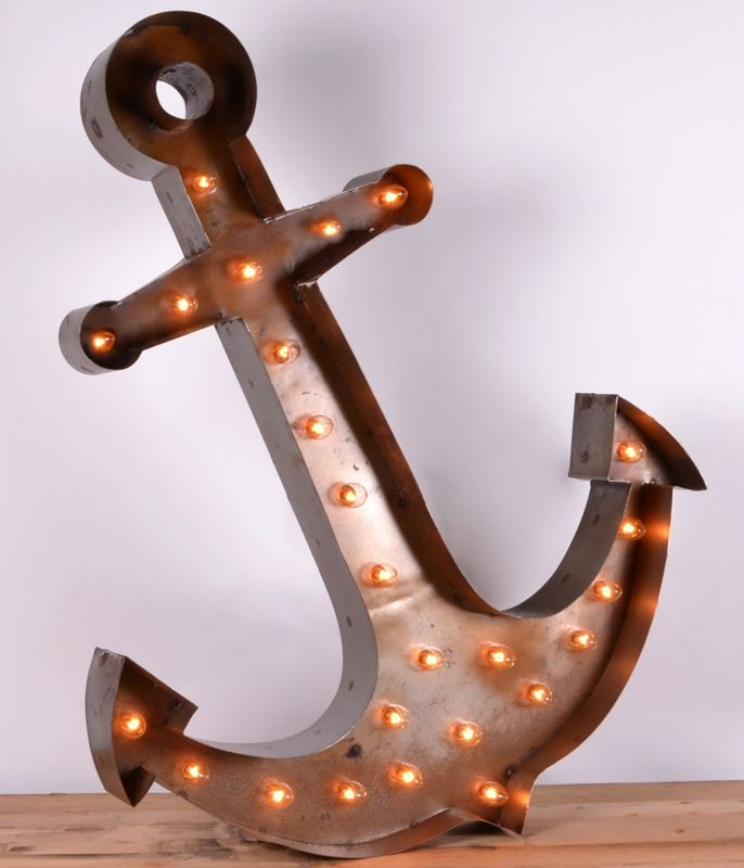 Vintage Anchor Light Marquee Sign. Shop Decor Coastal Favorites Pinterest Signs, Marquee ...