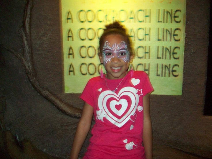Maria got her face painted in Disney World