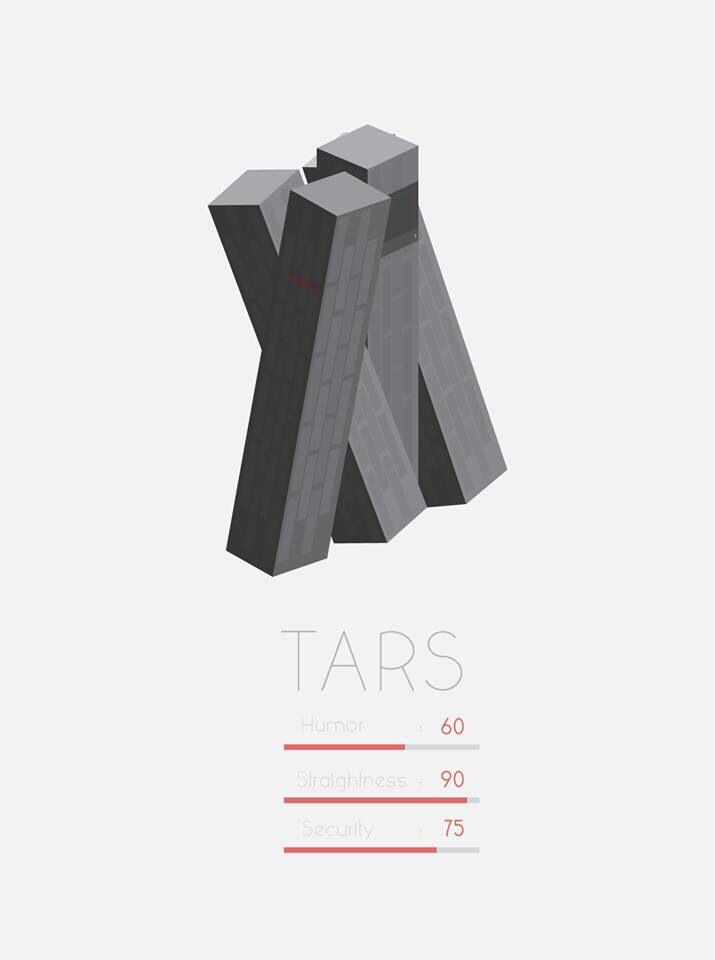 TARS-Interstellar I don't know why but I absolutely love Tars. Tara is one of my favourite characters in the film