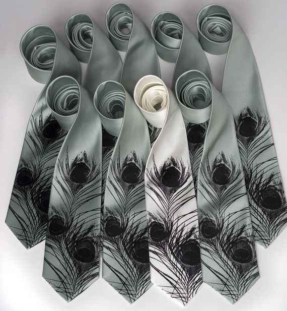 Wedding Groom and Groomsmen Ties ~ Cyberoptix on Etsy