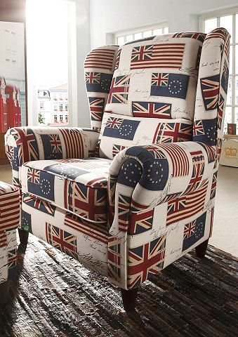 Hoe stoer is deze stoel? Helemaal in Britse stijl.