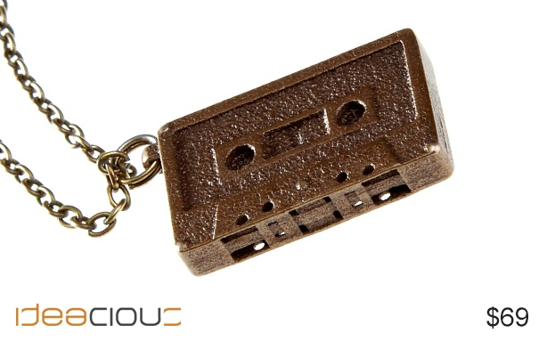 Mixtape Necklace by Ian Vandenberg | Remember making a mix tape for that special someone? Now you can give them one again. Part of a new collection by Ian Vandenberg Design. $69. #accessories #necklace #coolaccessories #jewellery.