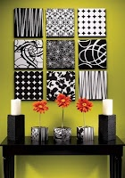 Neat Idea with fabric or scrapbook  paper