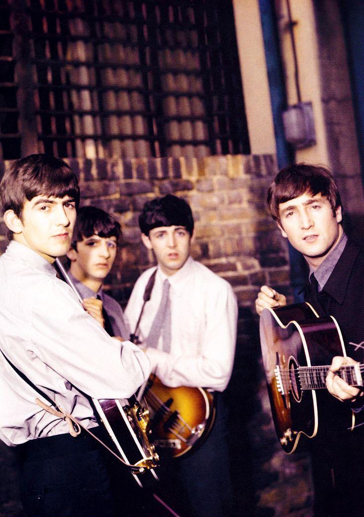 """"""""""" The Beatles outside Abbey Road studios, London, 1963. """" """""""