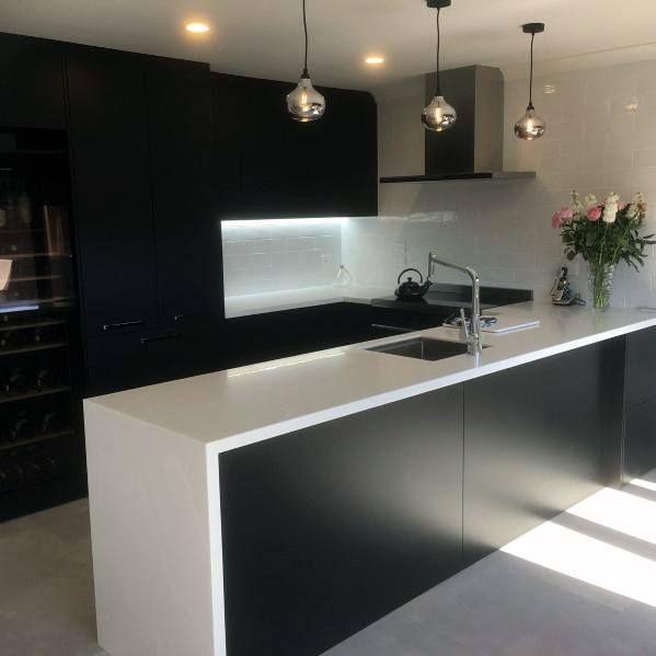 Top 50 Best Black Kitchen Cabinet Ideas Dark Cabinetry Designs Black Kitchens Black Kitchen Cabinets Cabinetry Design