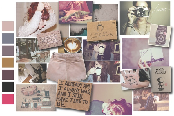 Moodboard and colours womenswear Anne