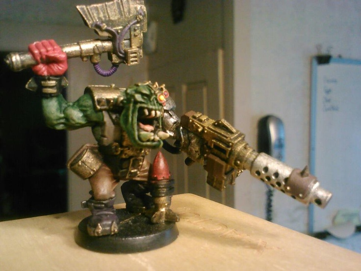 Orkz...  Kicking the missle at the target is just as good as shooting it...