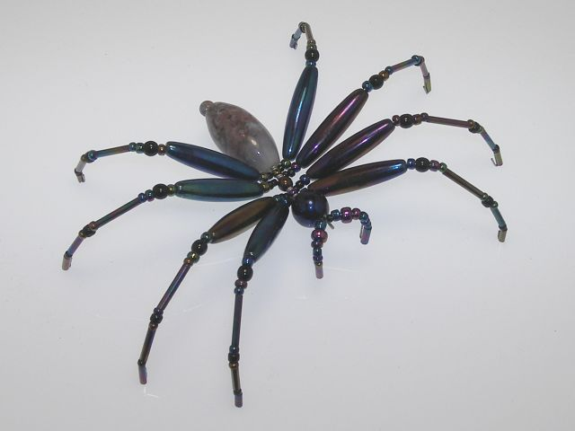 "How to Make Beaded Bugs | Make this spider a ""Christmas Spider"". Comes in a gift box with ..."