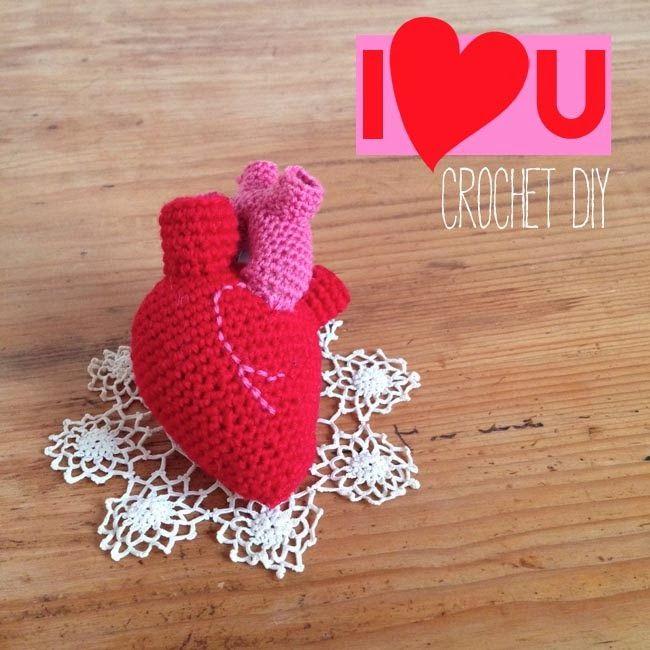 DIY: anatomical crocheted heart