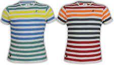 Mens T Shirts Kangol Marl Stripe Short Sleeved Top Crew Neck Casual Designer New