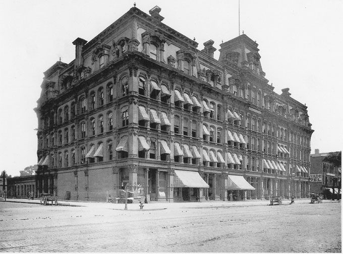 Cleveland City Hall as it appeared in the 1880s