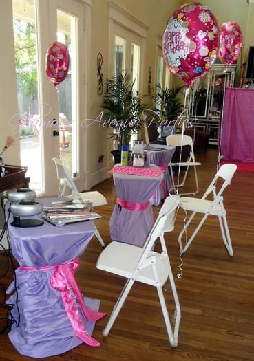 Hostess with the Mostessu00ae - Pink and Purple Mobile Spa Party for Girls in…