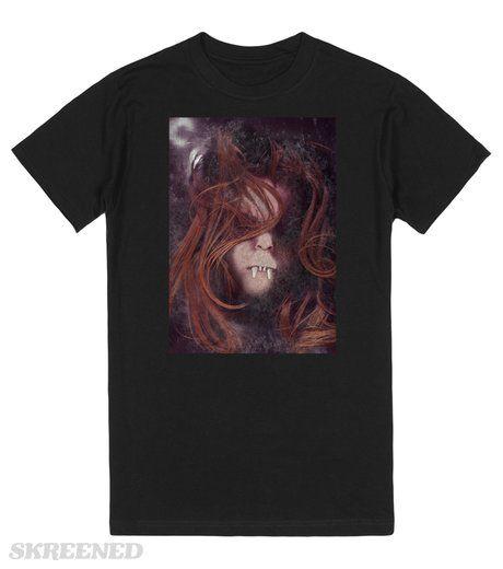 Vampire at rest Respectus ~ Latin for Respite, she is resting for the night......  .  Printed on Skreened T-Shirt #vampires #vampire