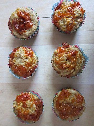 Nectarine Jam Muffins
